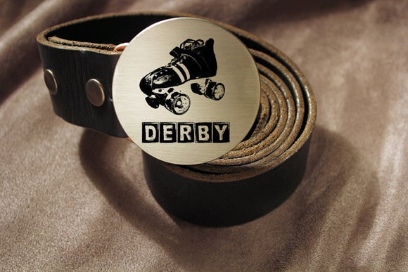 Roller Derby Belt Buckle-Metal Some Art