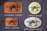 Drumset Drummer Belt Buckle-Metal Some Art