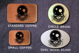 Grateful Dead Skull- Steal Your Face- Belt Buckle-Metal Some Art