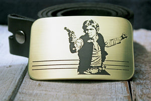 Han Solo STAR WARS Belt Buckle-Metal Some Art