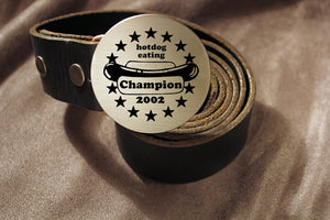Hotdog Eating Champion Belt Buckle-Metal Some Art