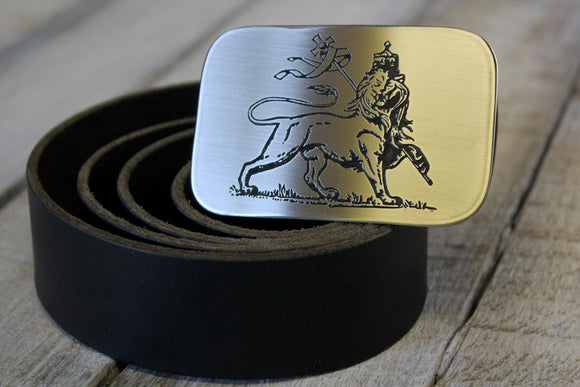 Lion of Judah Belt Buckle-Metal Some Art