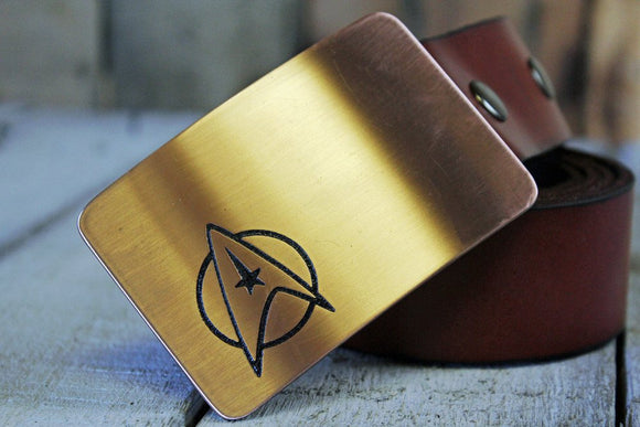 Star Trek STARFLEET INSIGNIA Belt Buckle-Metal Some Art