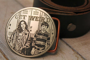 "Freaks and Geeks ""Get Weird"" Belt Buckle-Metal Some Art"