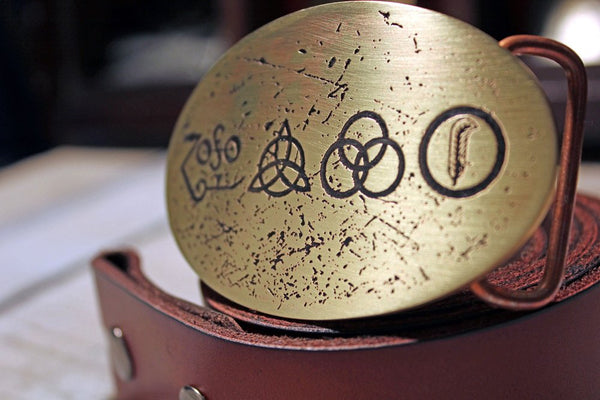 Zoso - Led Zeppelin Belt Buckle-Metal Some Art