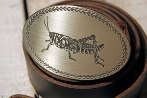 Grasshopper Belt Buckle-Metal Some Art