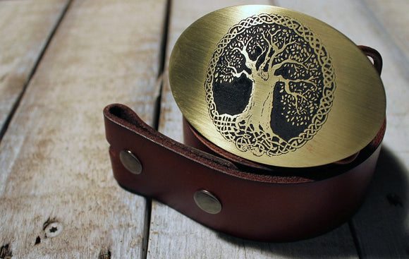 Celtic Tree Belt Buckle-Metal Some Art