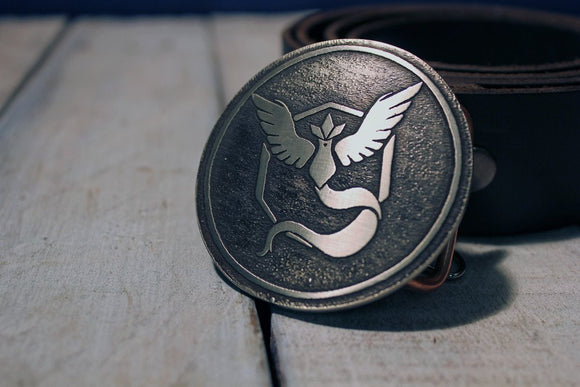 Pokemon Go TEAM MYSTIC Belt Buckle-Metal Some Art