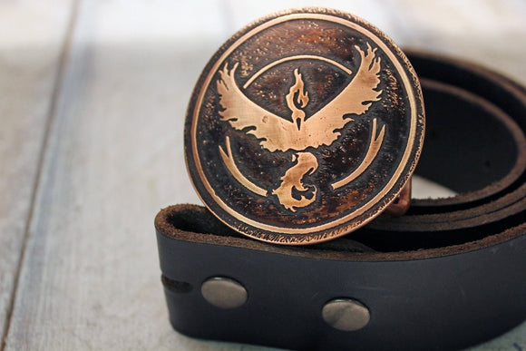 Pokemon Go TEAM VALOR Belt Buckle-Metal Some Art