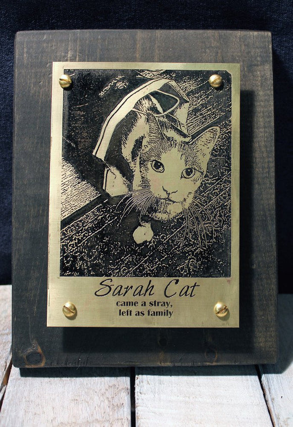 Pet Memorial Plaque-Metal Some Art