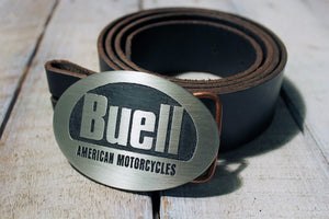 Buell Motorcycle Belt Buckle-Metal Some Art