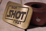 Han Shot First STAR WARS Belt Buckle-Metal Some Art