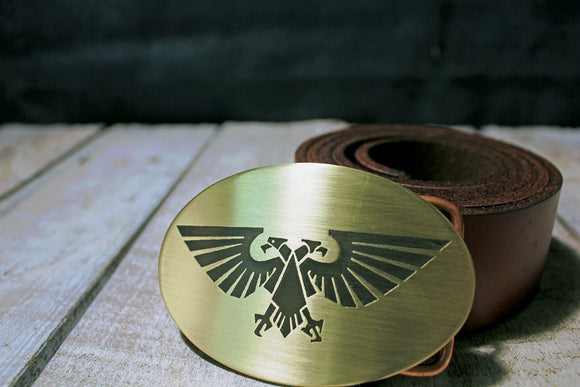 WarHammer 40K Aquila Belt Buckle - Imperial Guard-Metal Some Art