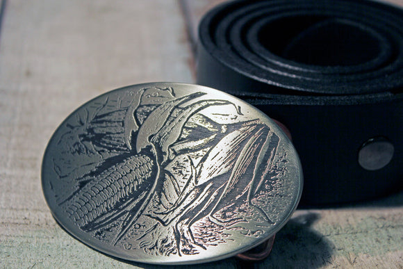 Corn Farmer Belt Buckle-Metal Some Art