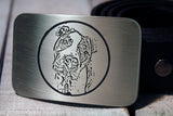 Man's Best Friend DESIGN YOUR OWN DOG Belt Buckle-Metal Some Art