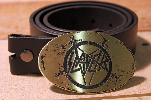 Slayer Belt Buckle-Metal Some Art
