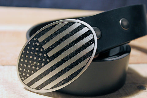 American Flag Belt Buckle-Metal Some Art