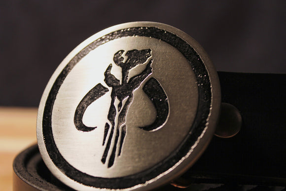 Mandalorian Skull BOBA FETT Star Wars Belt Buckle-Metal Some Art