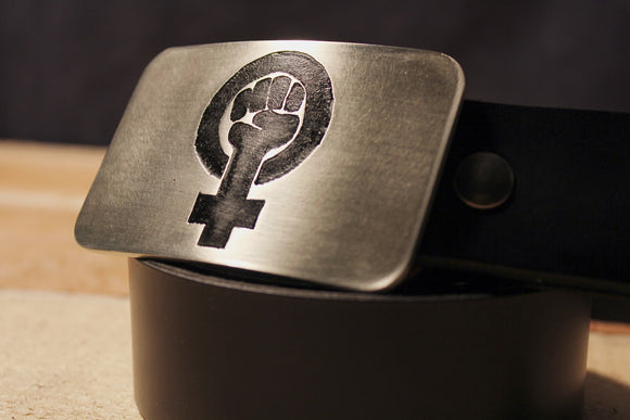 Feminist Belt Buckle-Metal Some Art