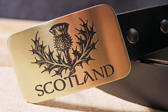 Scotland Thistle Scottish Belt Buckle-Metal Some Art