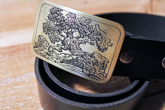 Bonsai Tree Belt Buckle-Metal Some Art