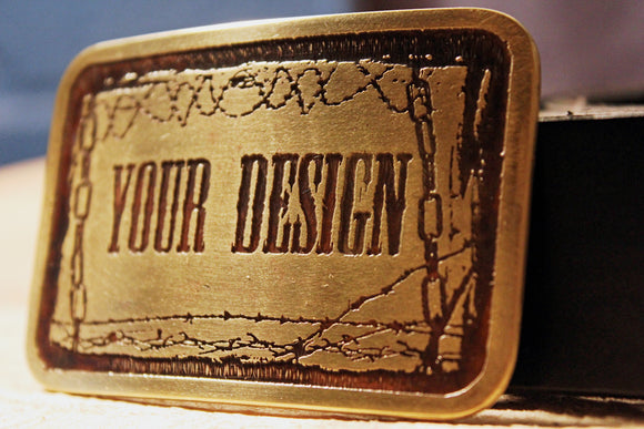 Custom Belt Buckle-Metal Some Art