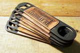 "5 GROOMSMEN ""Design Your Own"" Flat Bar Bottle Openers-Metal Some Art"