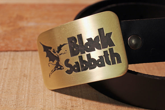 Black Sabbath Belt Buckle-Metal Some Art