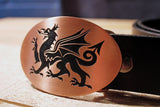 Wales Flag WELSH RED DRAGON Belt Buckle - Y Ddraig Goch-Metal Some Art