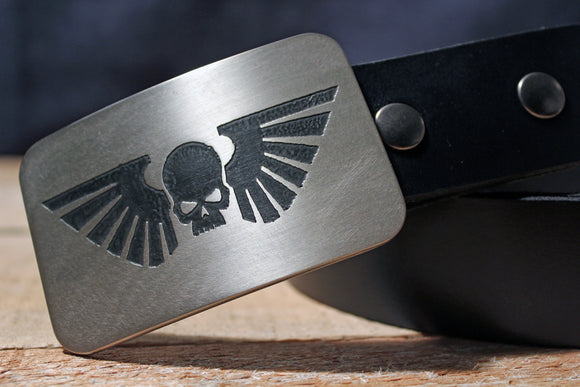Imperial Guard Astra Militarum- WarHammer 40K Belt Buckle-Metal Some Art