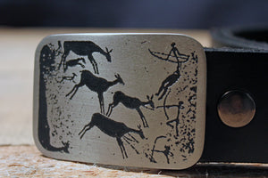 Cave Drawing Belt Buckle-Metal Some Art