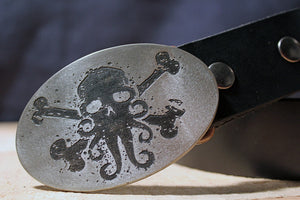 Cthulhu Pirate Skull Belt Buckle-Metal Some Art