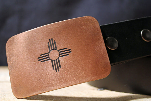 New Mexico Flag Belt Buckle-Metal Some Art