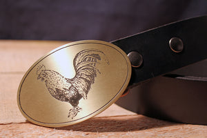 Rooster COCKY Belt Buckle-Metal Some Art
