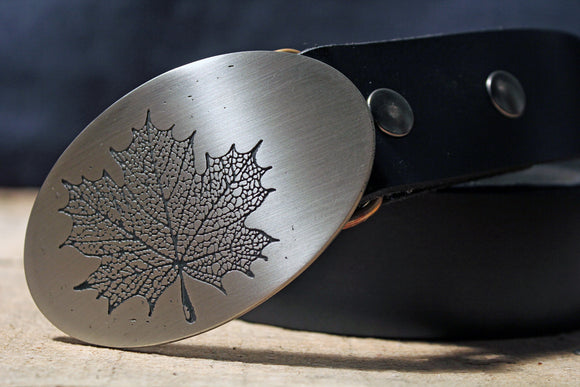 Maple Leaf Belt Buckle-Metal Some Art
