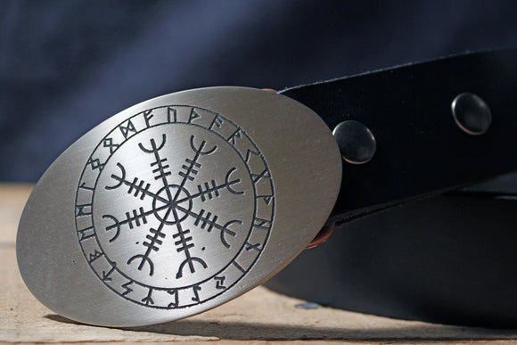 Helm of Awe VIKING Belt Buckle-Metal Some Art