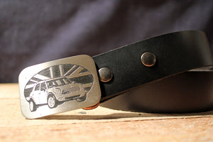 Mini Cooper Belt Buckle-Metal Some Art