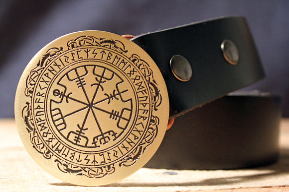 Viking Compass -VEGVISIR- Belt Buckle-Metal Some Art