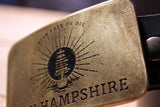 New Hampshire State Flag -LIVE FREE OR DIE- Belt Buckle-Metal Some Art
