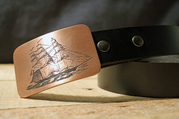 Clipper Ship Belt Buckle