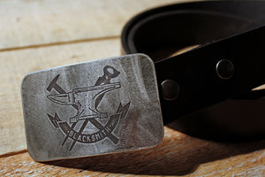 Blacksmith -METAL WORKER- Belt Buckle