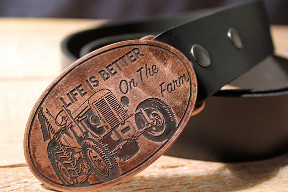 Farmer Belt Buckle