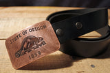 Oregon BEAVER State Flag Belt Buckle