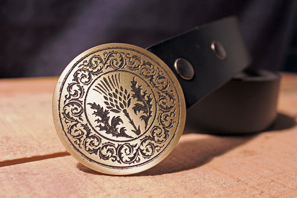 Thistle Belt Buckle -Scotland / Scottish