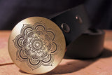 Buddhist Lotus ZEN Belt Buckle