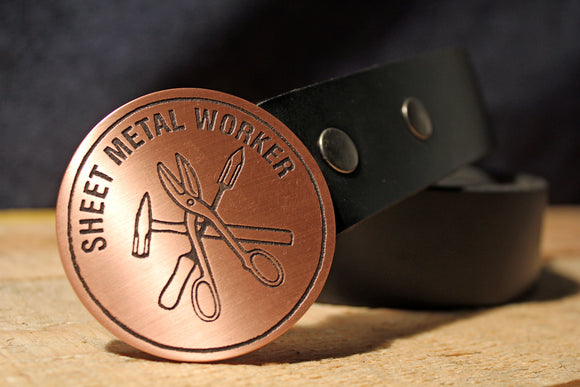 Sheet Metal Worker UNION Belt Buckle