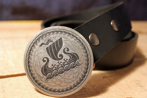 Knarr Viking Ship Belt Buckle