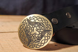Celtic Wolf Belt Buckle