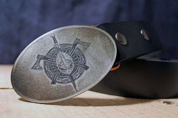 Celtic Warrior Belt Buckle