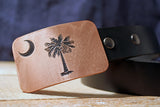 South Carolina Flag Belt Buckle